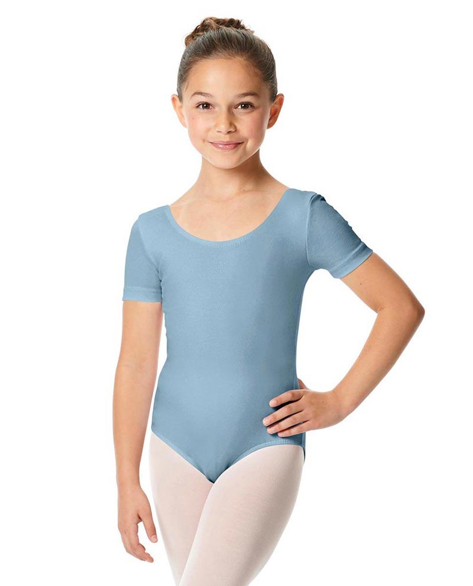 Child Short Sleeve Ballet Leotard Lauretta SKY