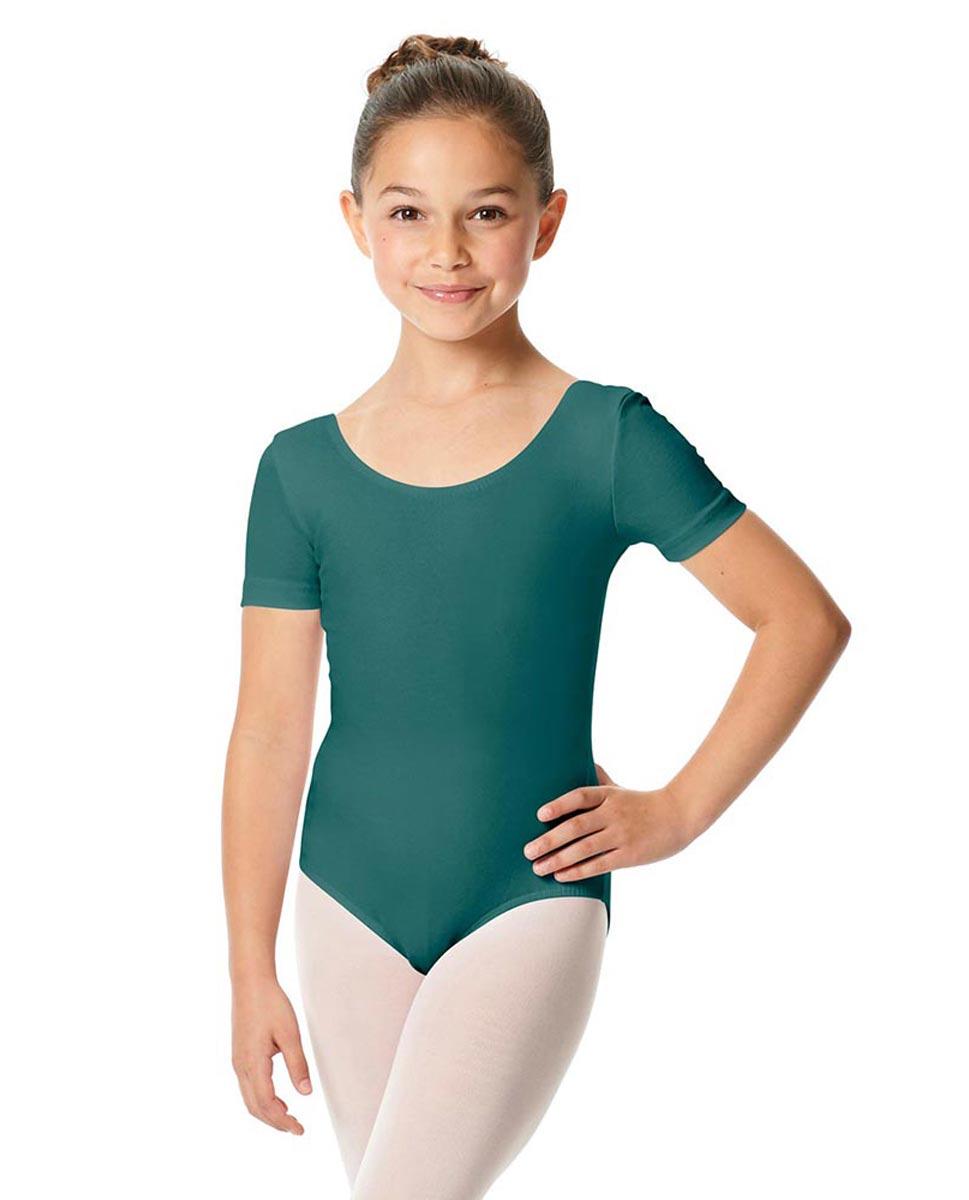 Child Short Sleeve Ballet Leotard Lauretta TEA