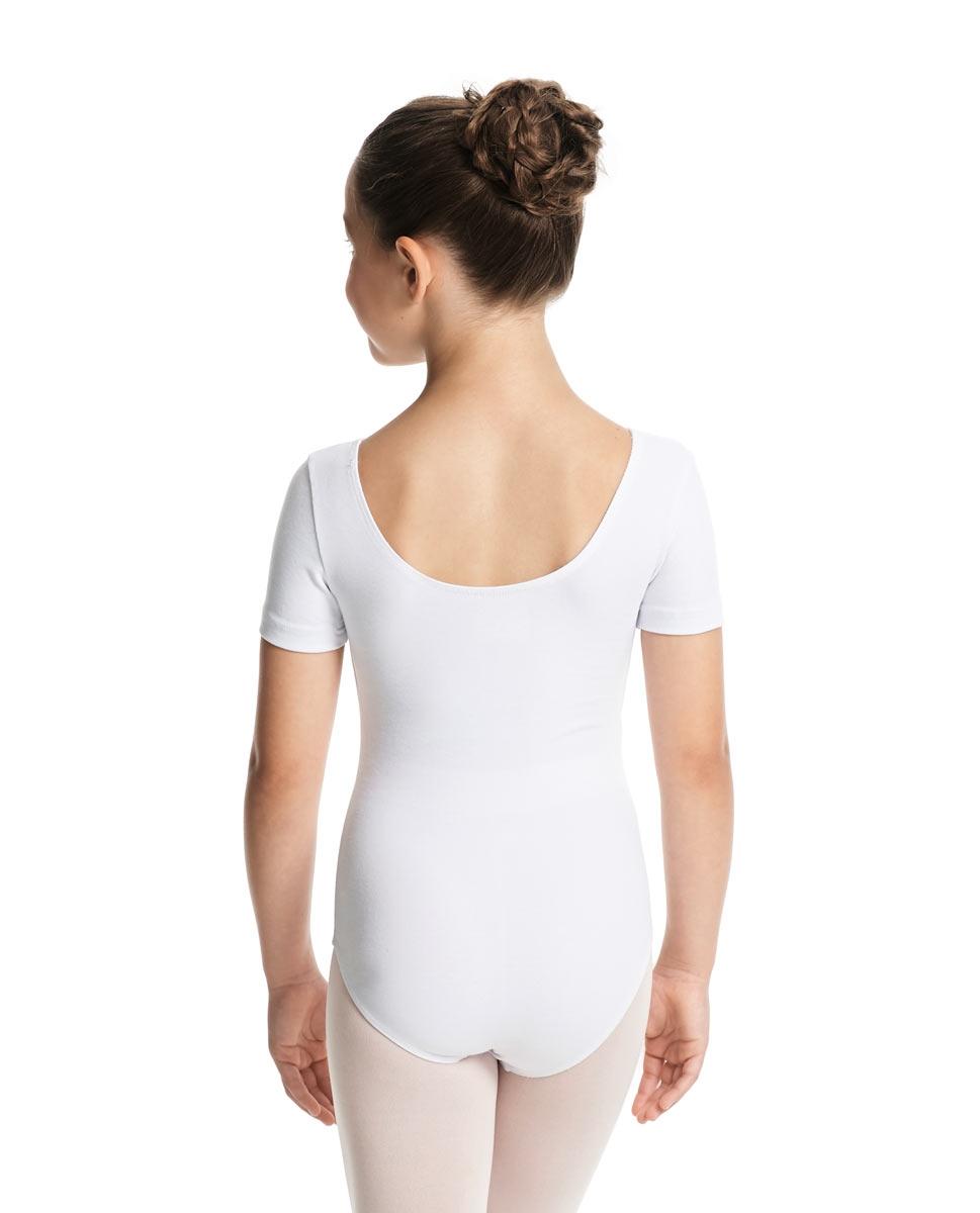 Child Short Sleeve Ballet Leotard Lauretta back