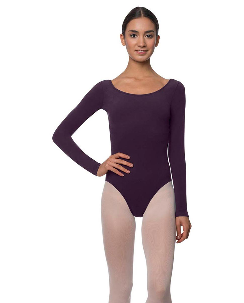 Adults Long Sleeved Velvety Ballet Leotard Liv AUB