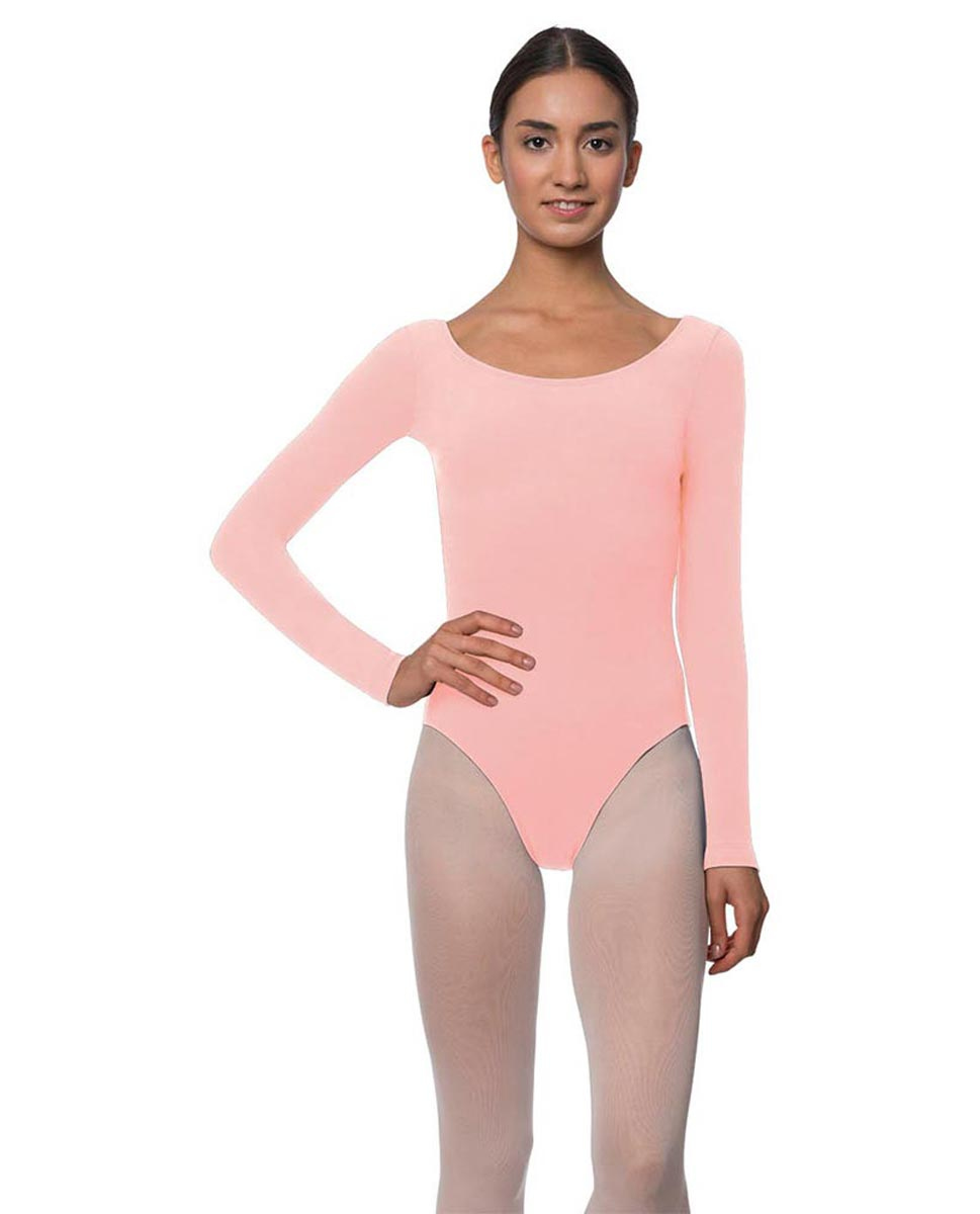 Adults Long Sleeved Velvety Ballet Leotard Liv BPINK