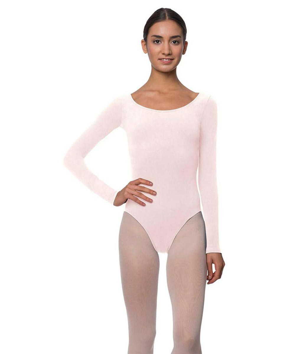 Adults Long Sleeved Velvety Ballet Leotard Liv LPNK