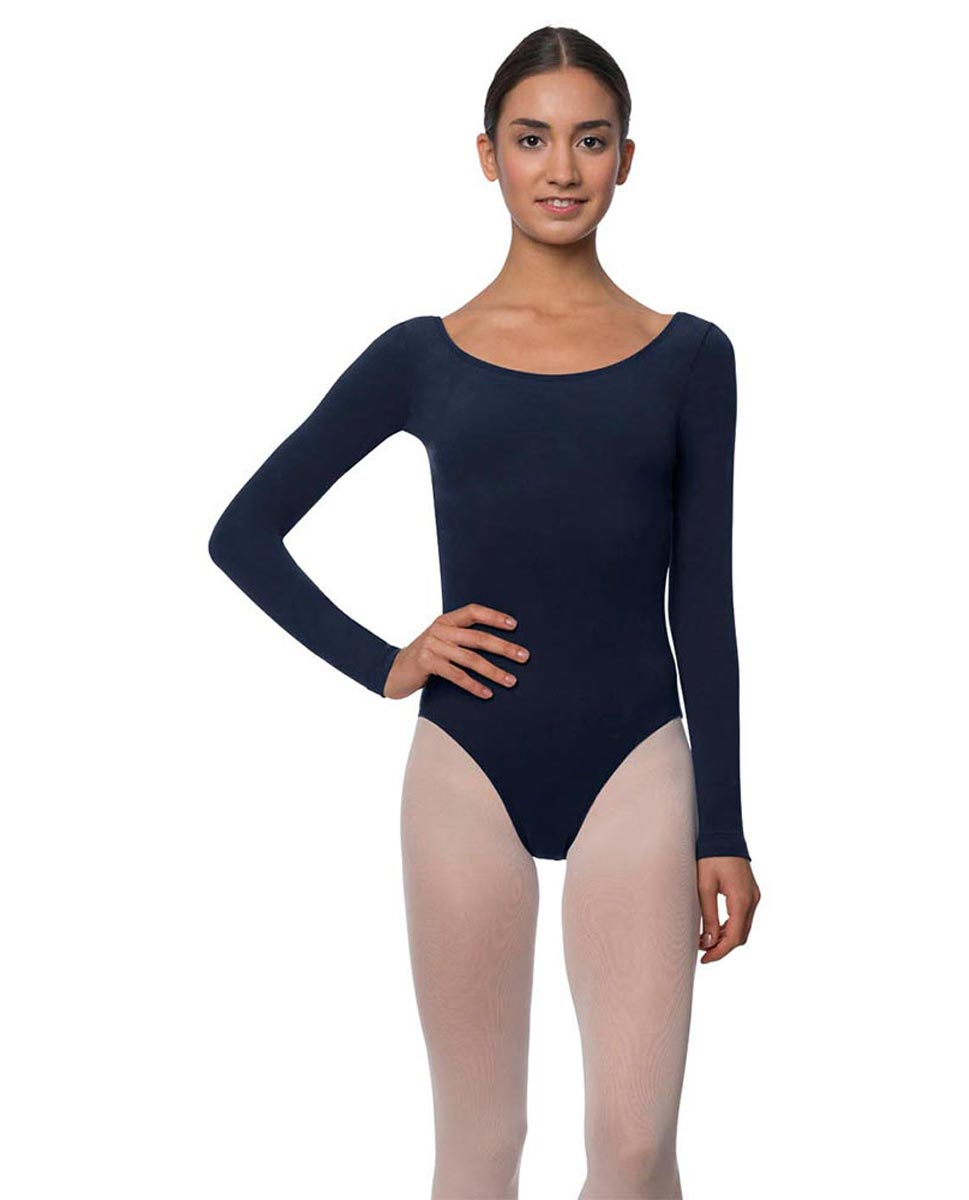 Adults Long Sleeved Velvety Ballet Leotard Liv NAY