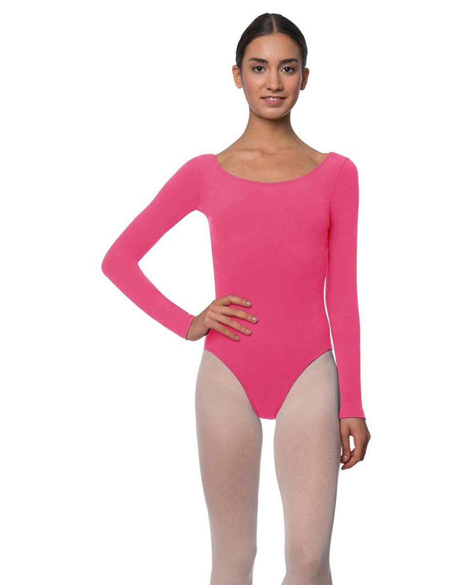 Adults Long Sleeved Velvety Ballet Leotard Liv ROS