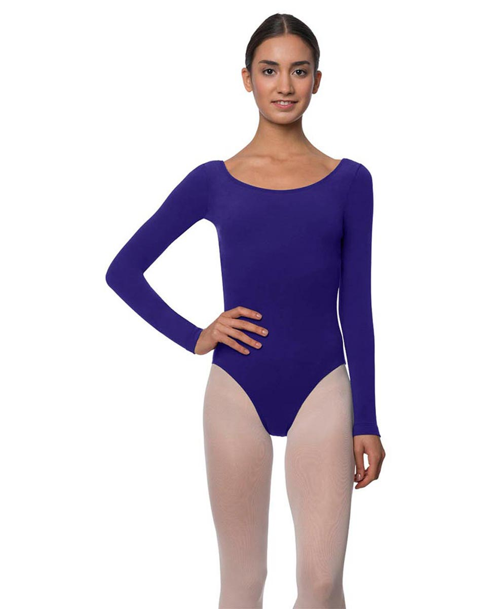 Adults Long Sleeved Velvety Ballet Leotard Liv ROY