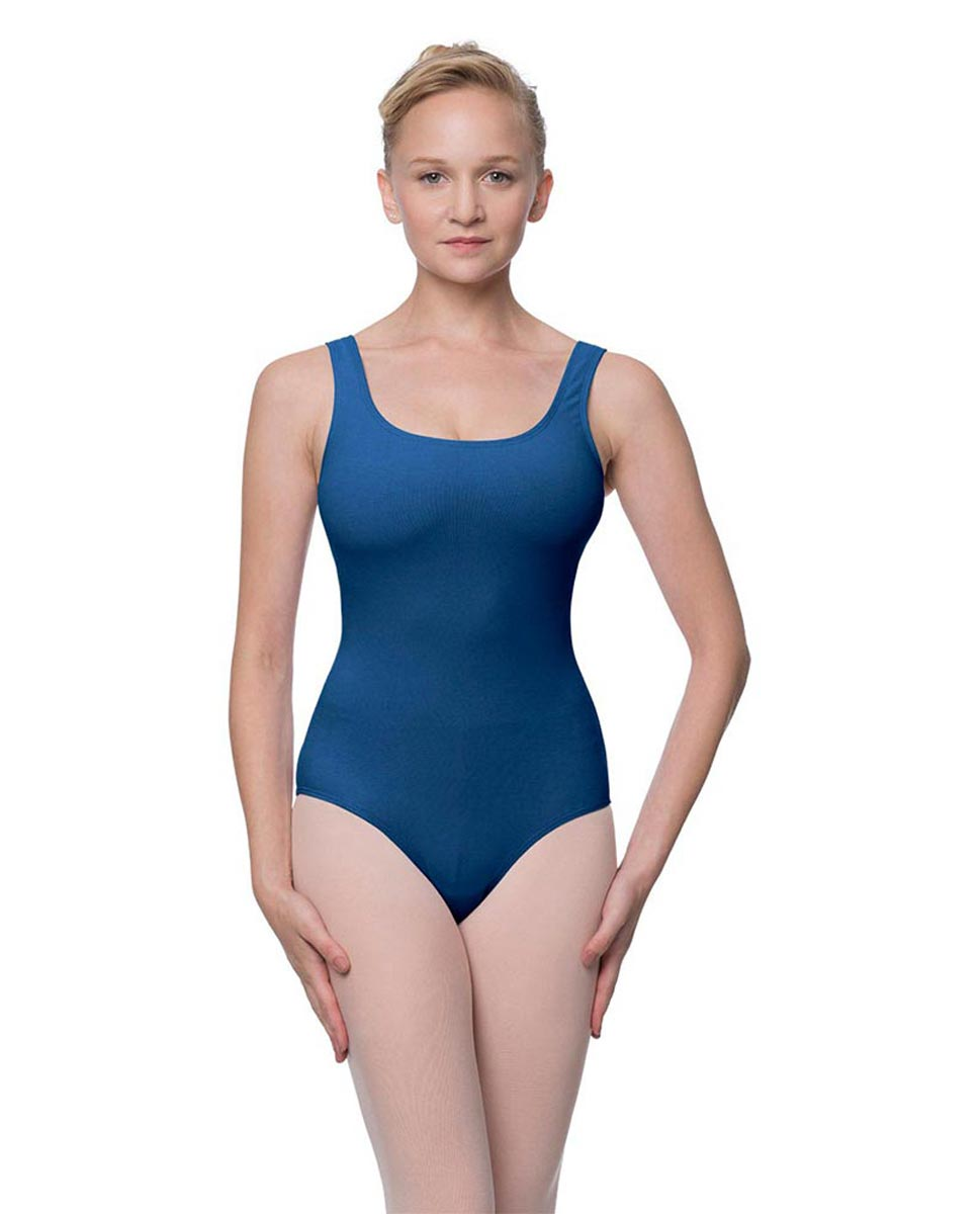 Adult Classic Tank Dance Leotard Barbara BLUE