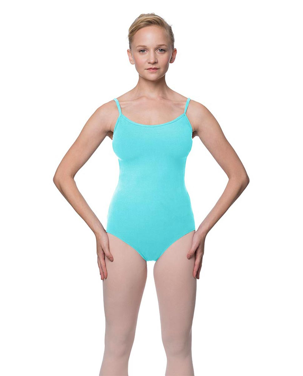 Womens Velvety Soft Camisole Ballet Leotard Lia AQU
