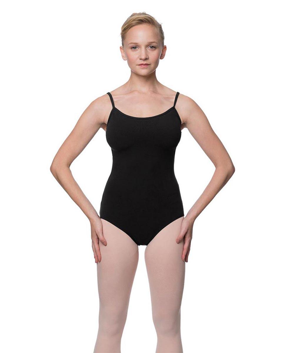 Womens Velvety Soft Camisole Ballet Leotard Lia BLK