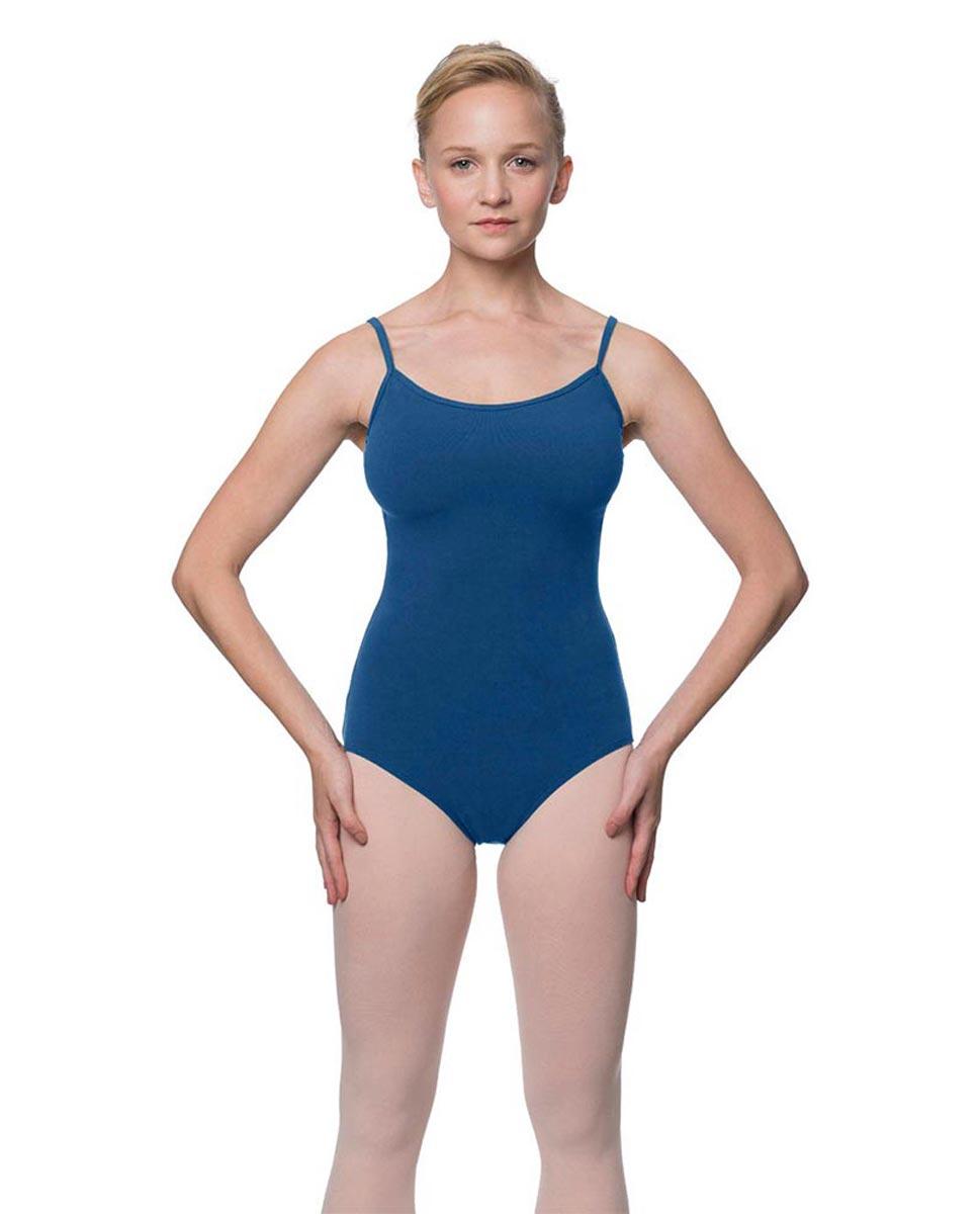 Womens Velvety Soft Camisole Ballet Leotard Lia BLUE