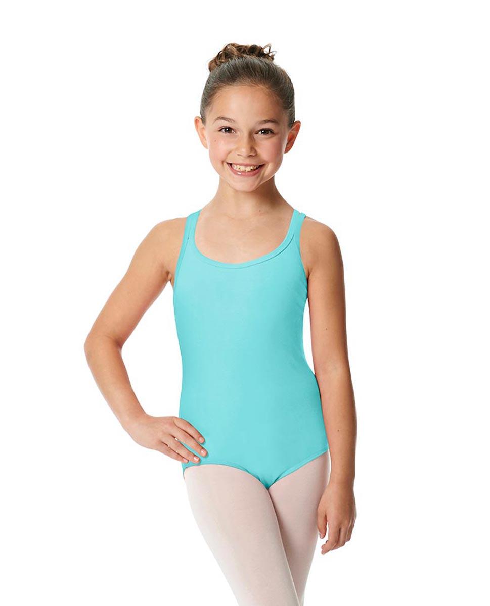 Child Camisole Strappy Back Ballet Leotard Yvette AQU