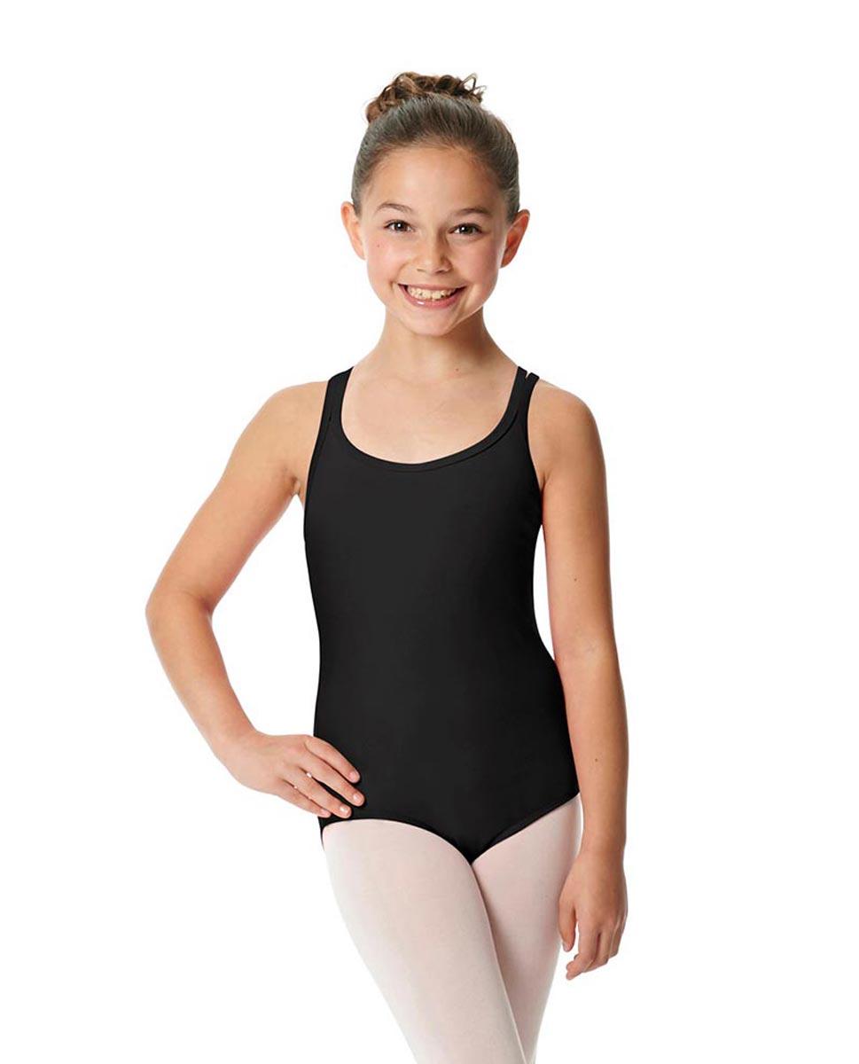 Child Camisole Strappy Back Ballet Leotard Yvette BLK