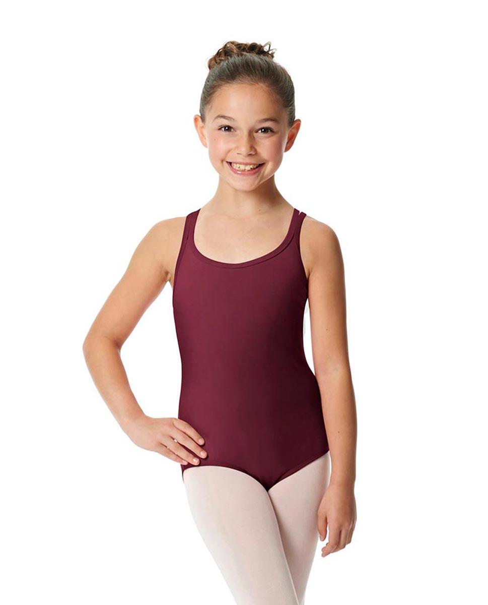 Child Camisole Strappy Back Ballet Leotard Yvette BUR