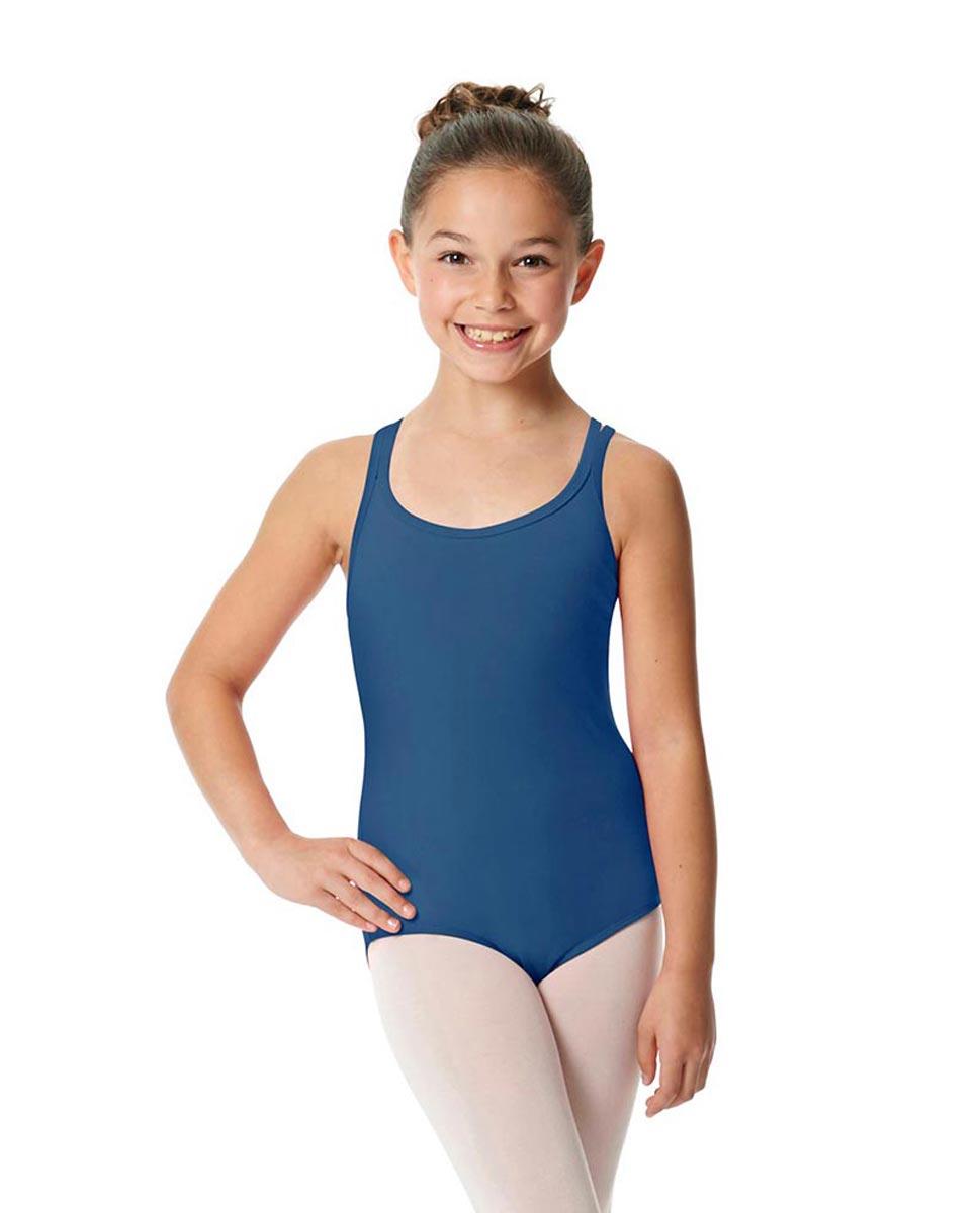 Child Camisole Strappy Back Ballet Leotard Yvette BLUE