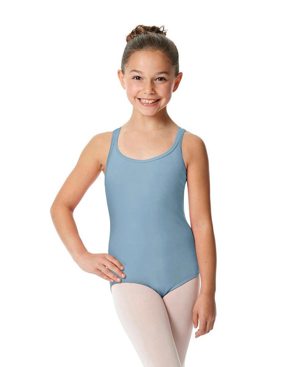 Child Camisole Strappy Back Ballet Leotard Yvette SKY