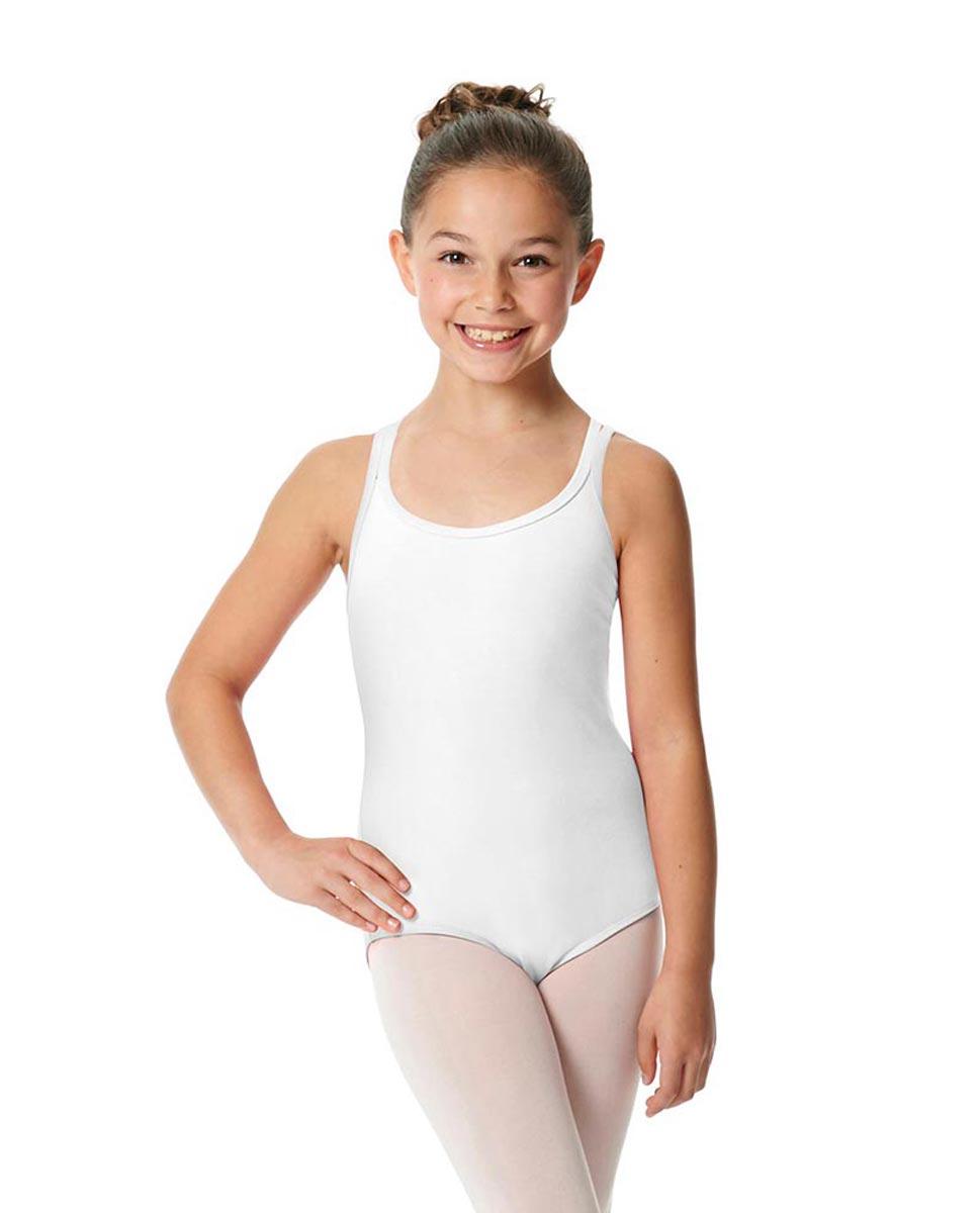 Child Camisole Strappy Back Ballet Leotard Yvette WHI