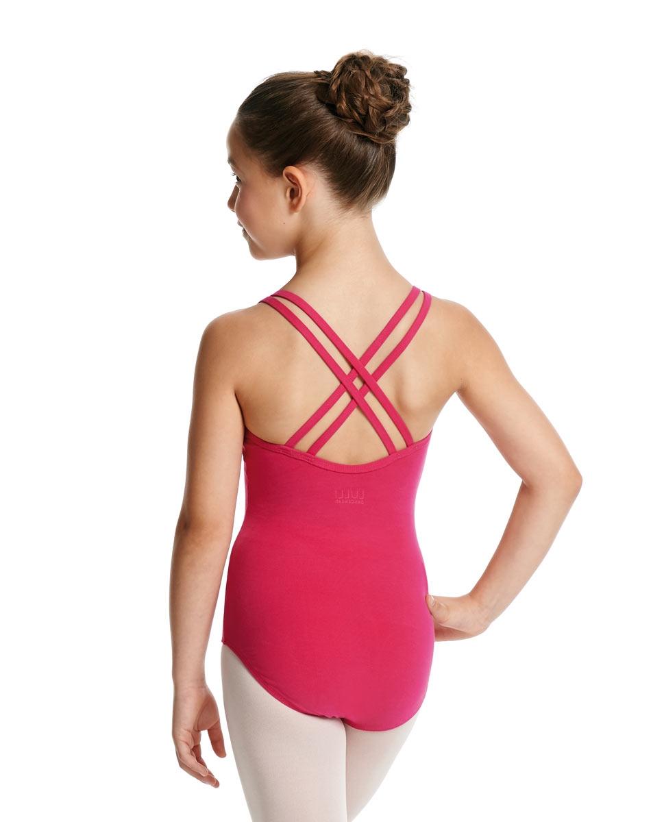 Child Camisole Strappy Back Ballet Leotard Yvette back