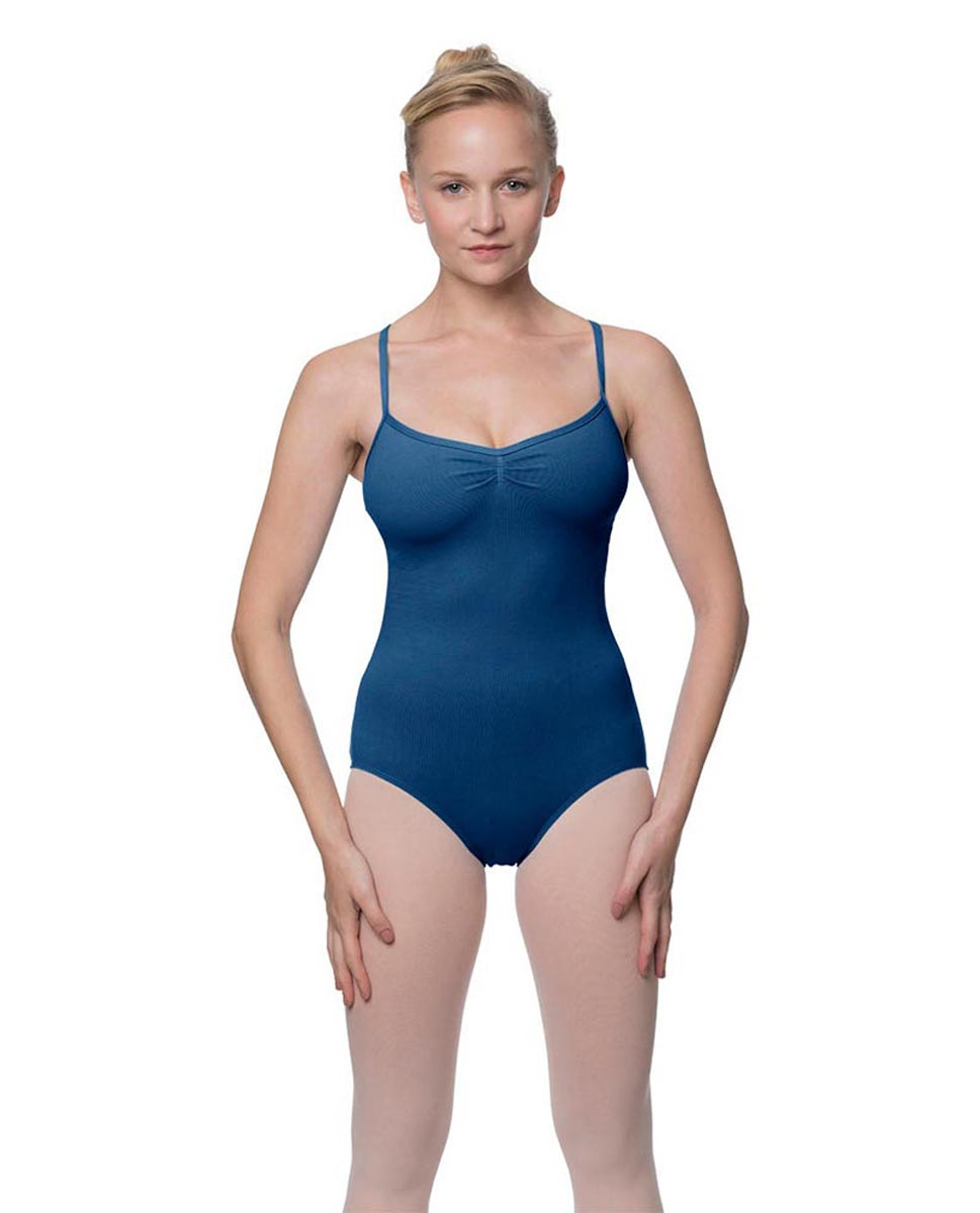Adults X-Back Camisole Dance Leotard Nell BLUE