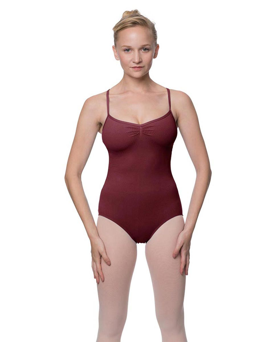Adults X-Back Camisole Dance Leotard Nell BUR