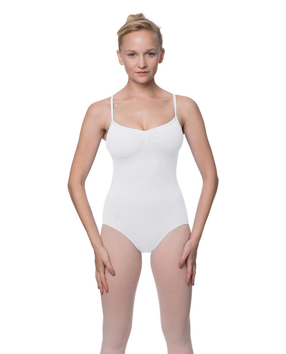 Adults X-Back Camisole Dance Leotard Nell WHI