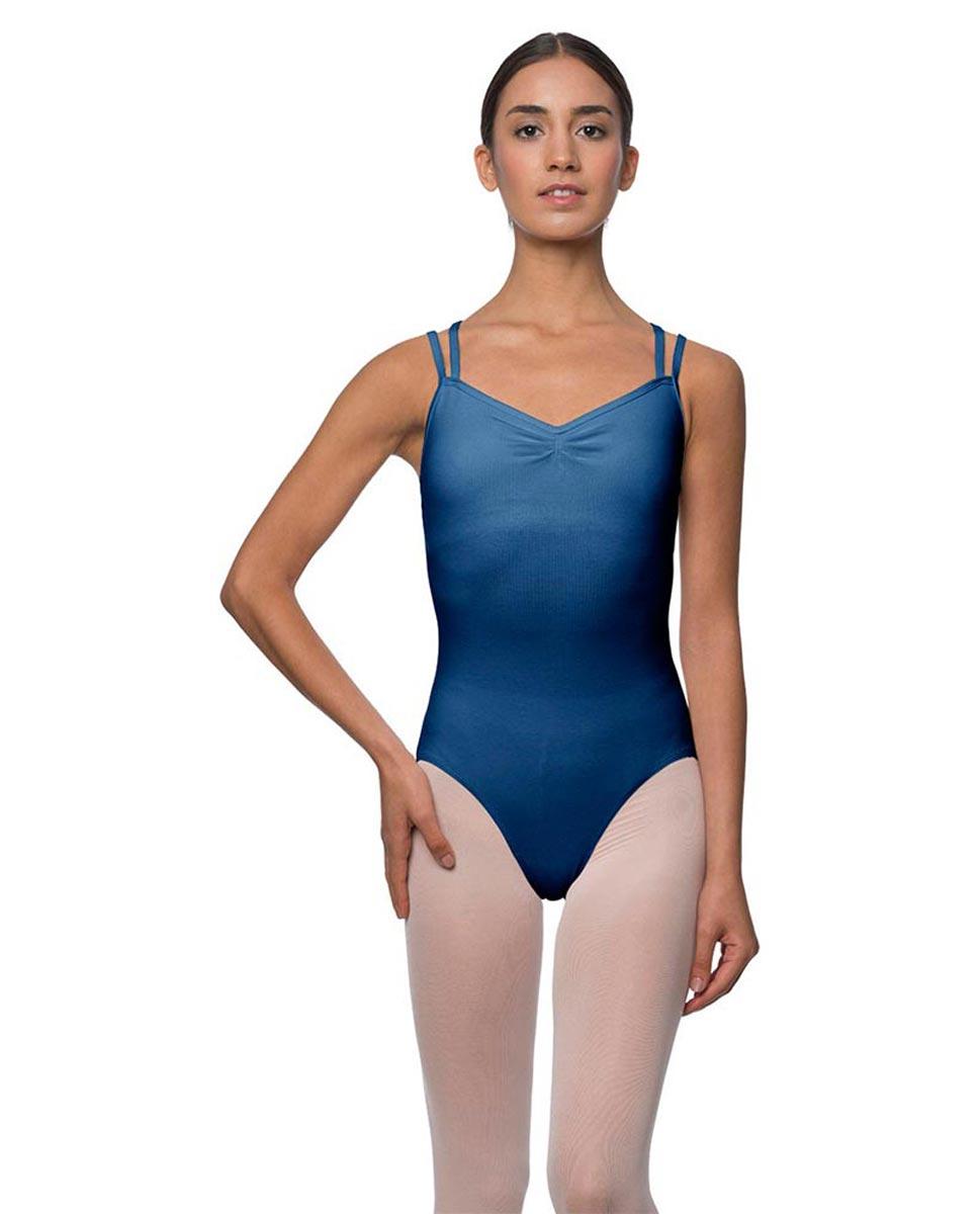 Adults Camisole Strappy Back Dance Leotard Lara BLUE