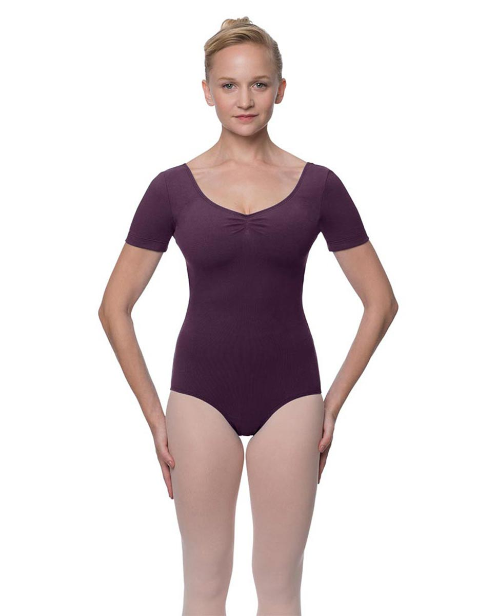 Womens Pinch Front and Back Short Sleeve Ballet Leotard Mckenzie AUB