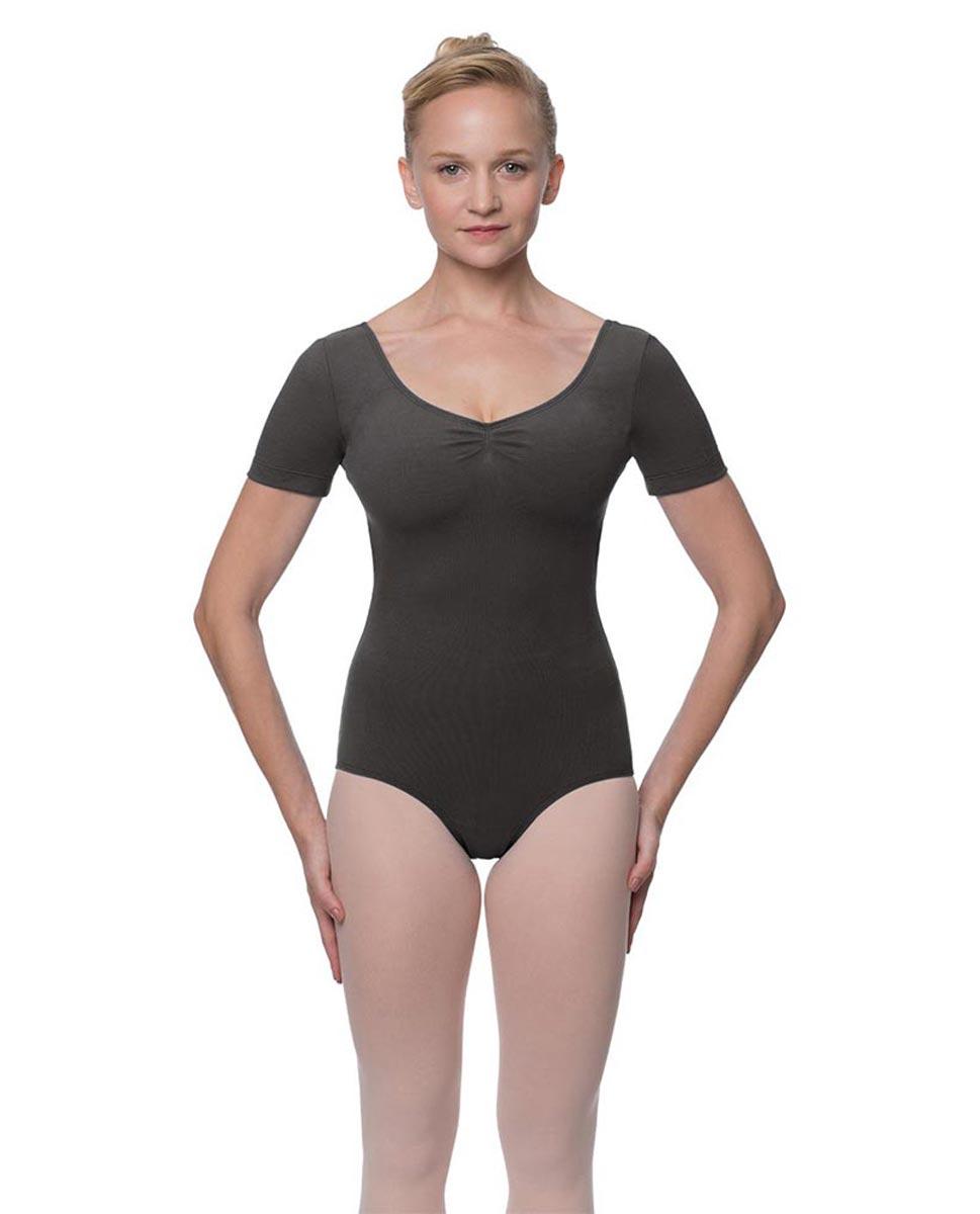 Womens Pinch Front and Back Short Sleeve Ballet Leotard Mckenzie DGRE