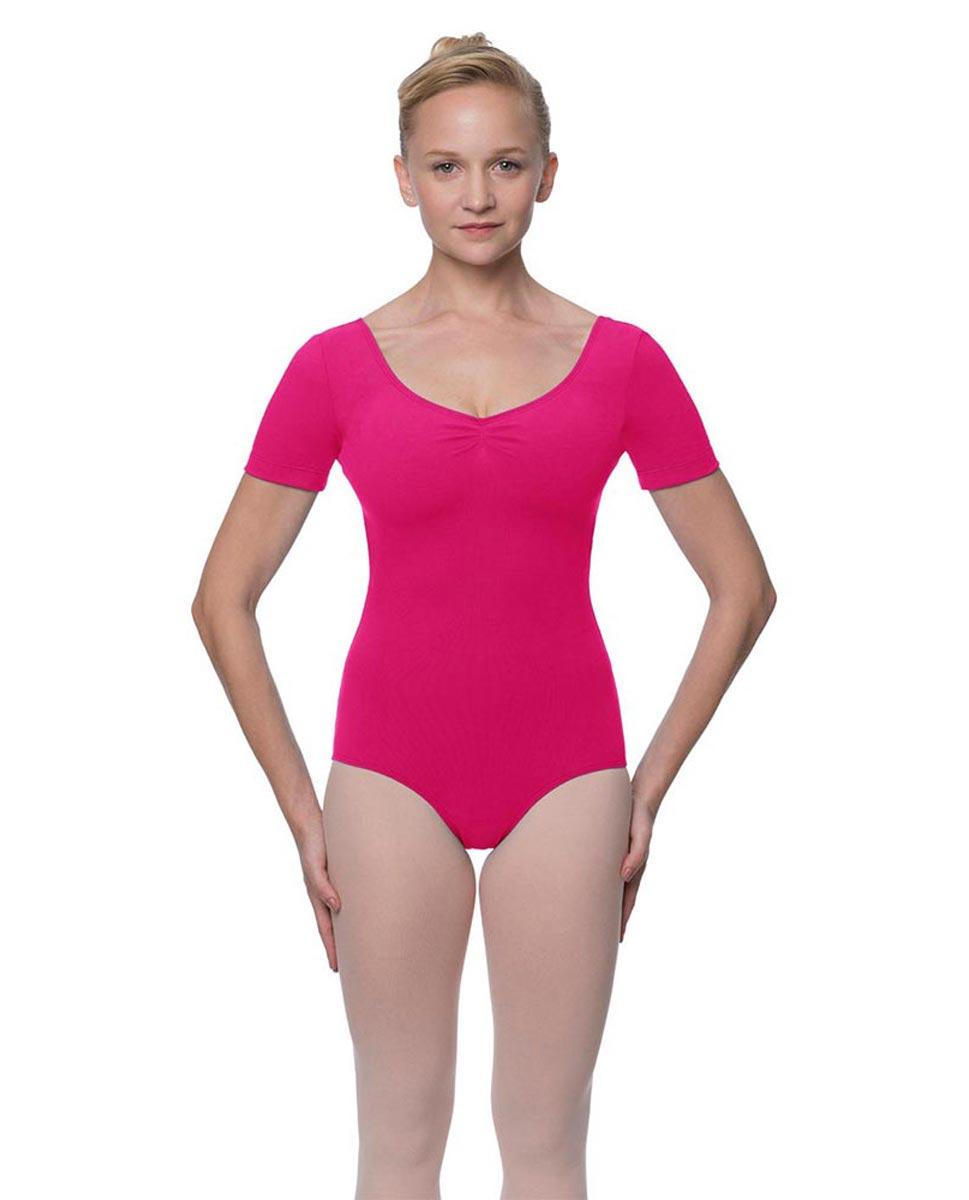 Womens Pinch Front and Back Short Sleeve Ballet Leotard Mckenzie FUC