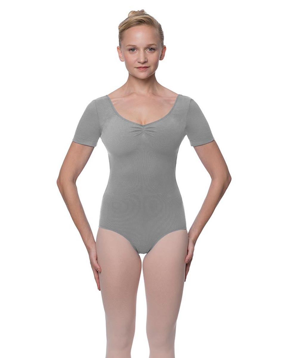Womens Pinch Front and Back Short Sleeve Ballet Leotard Mckenzie GRE