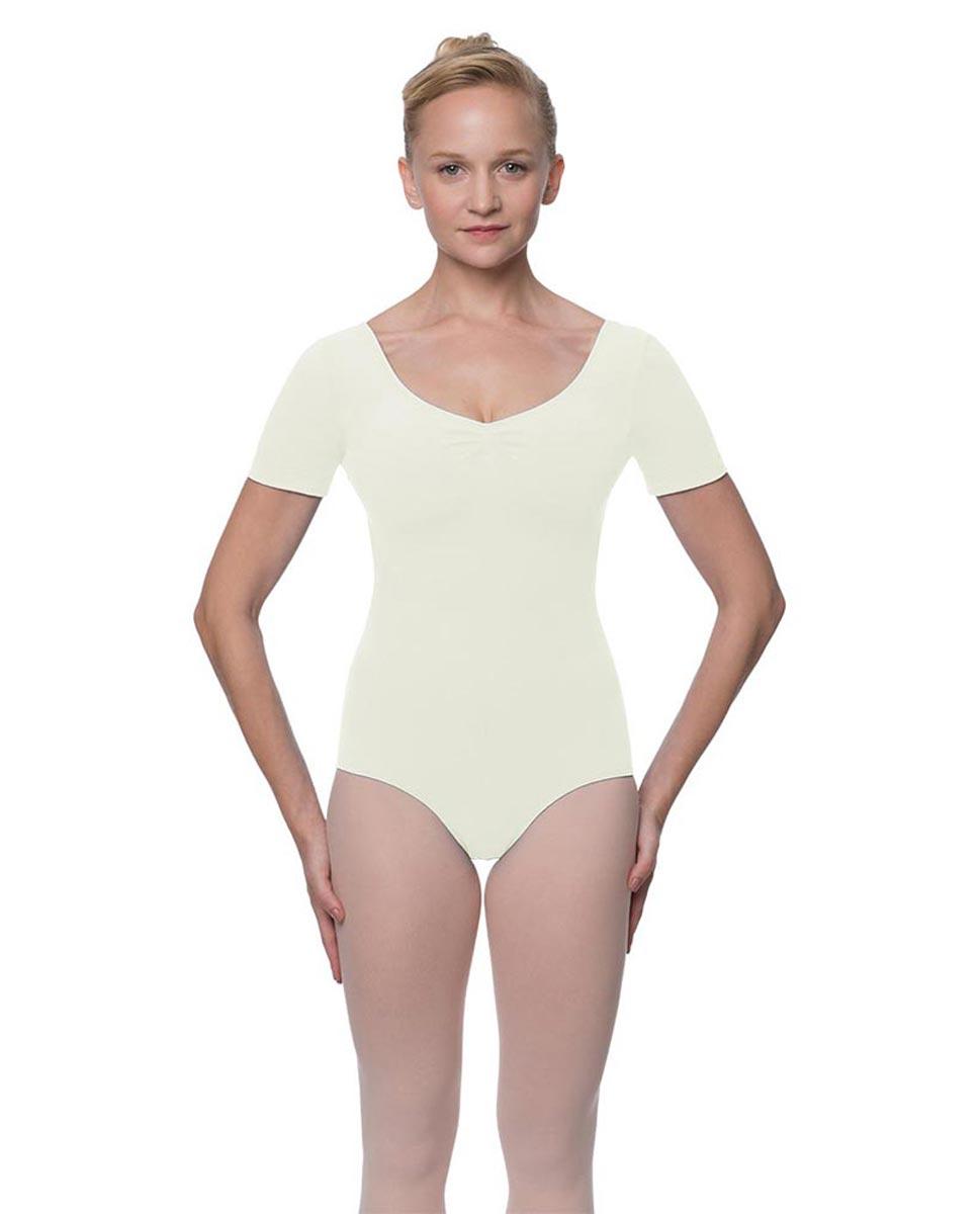 Womens Pinch Front and Back Short Sleeve Ballet Leotard Mckenzie IVOR