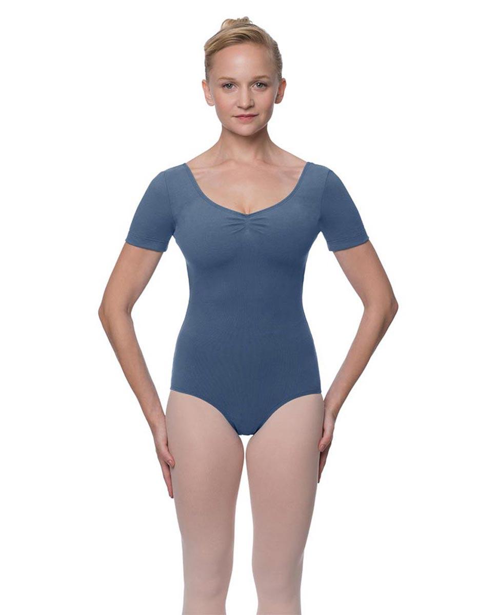 Womens Pinch Front and Back Short Sleeve Ballet Leotard Mckenzie JEA