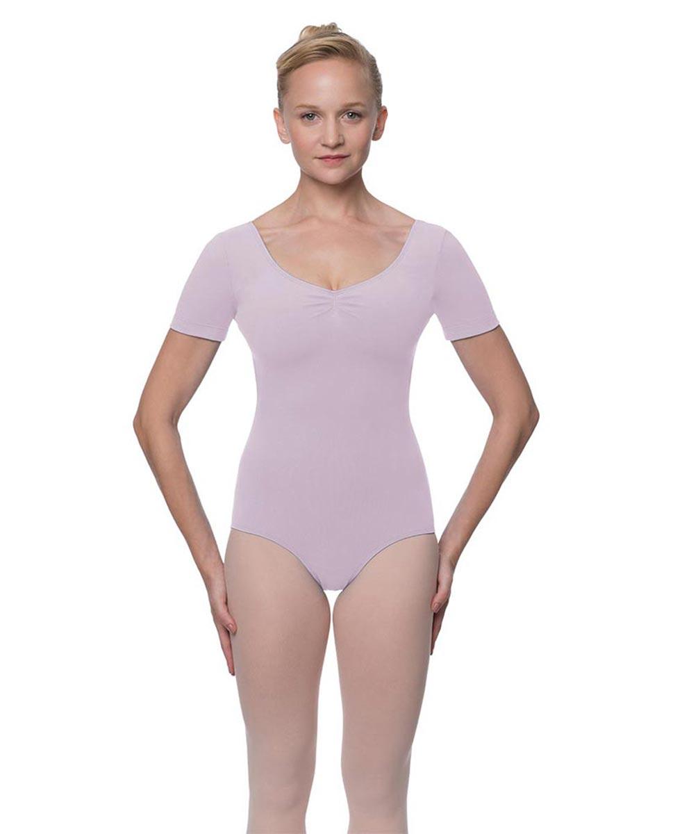 Womens Pinch Front and Back Short Sleeve Ballet Leotard Mckenzie LIL
