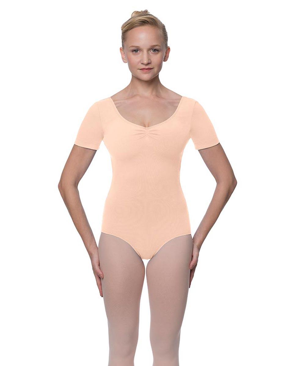 Womens Pinch Front and Back Short Sleeve Ballet Leotard Mckenzie LNUD