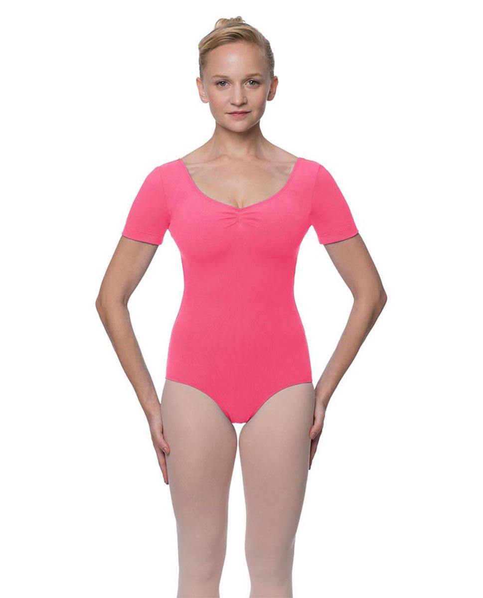 Womens Pinch Front and Back Short Sleeve Ballet Leotard Mckenzie ROS