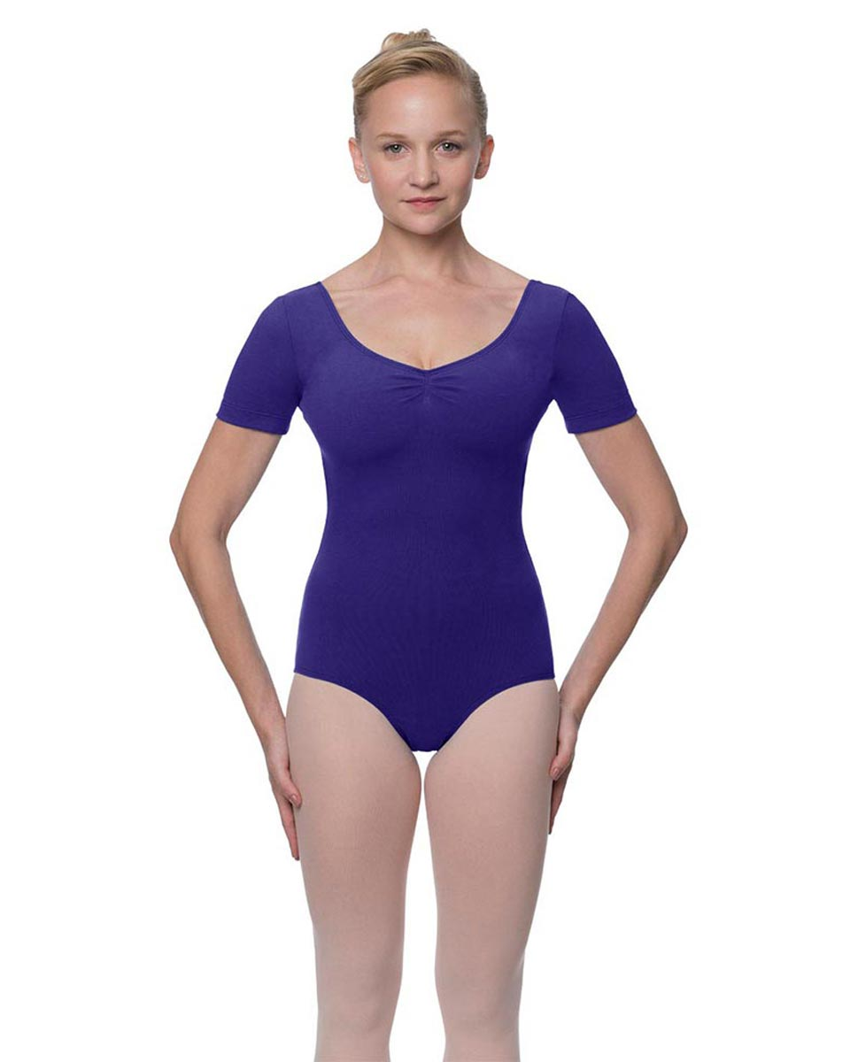 Womens Pinch Front and Back Short Sleeve Ballet Leotard Mckenzie ROY