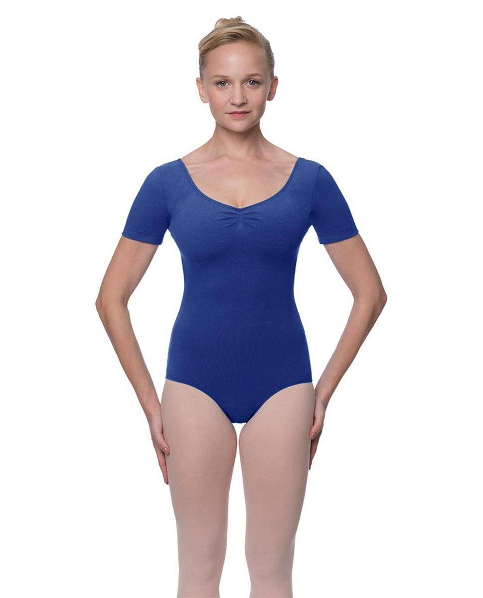 Womens Pinch Front and Back Short Sleeve Ballet Leotard Mckenzie UMA