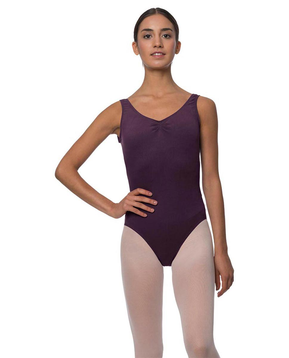 Adults Pinch Front and Low Back Tank Dance Leotard Luna AUB