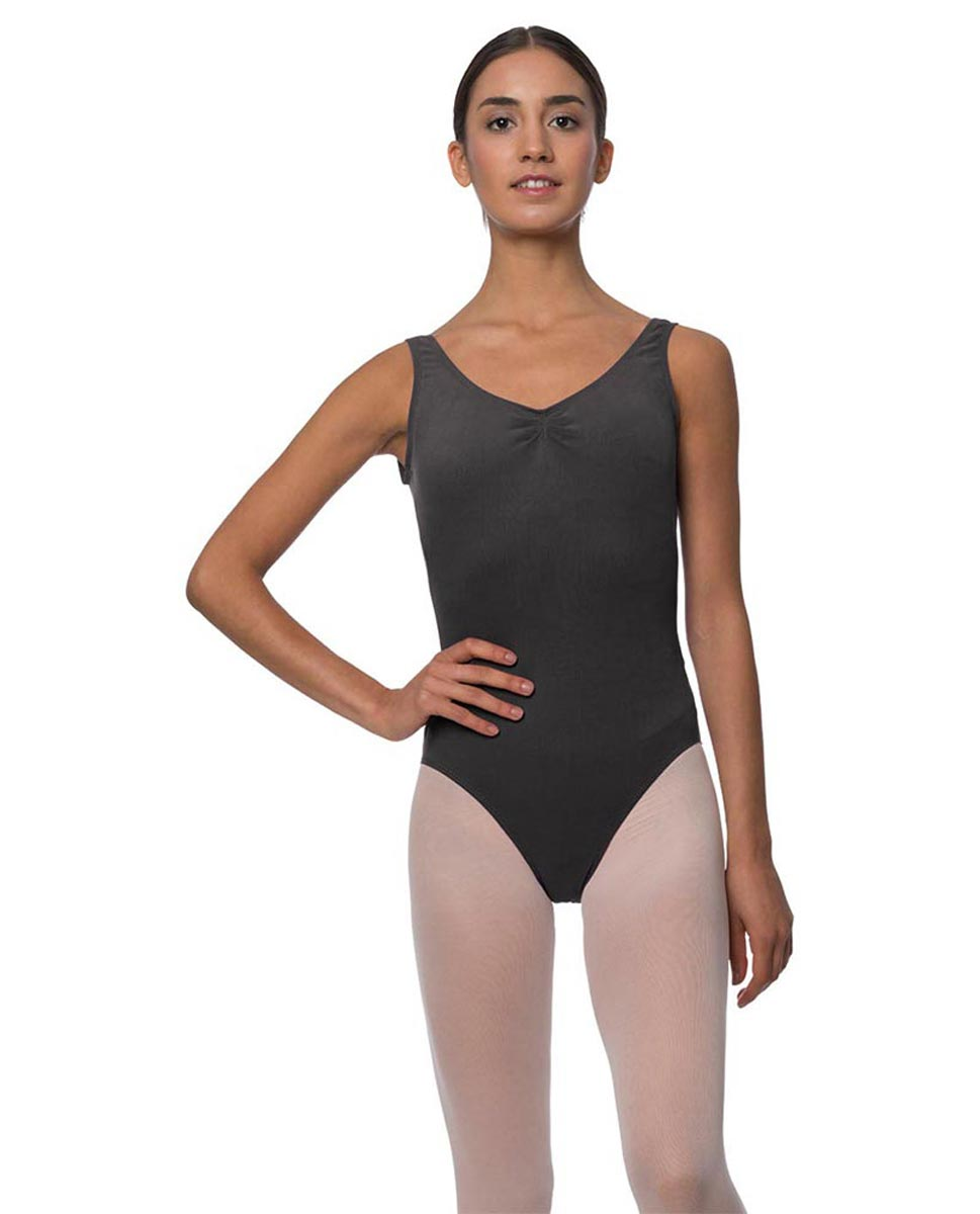 Adults Pinch Front and Low Back Tank Dance Leotard Luna DGRE