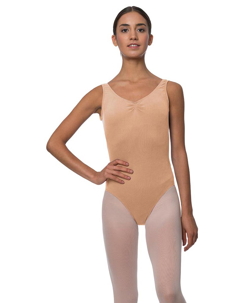 Adults Pinch Front and Low Back Tank Dance Leotard Luna DNUD