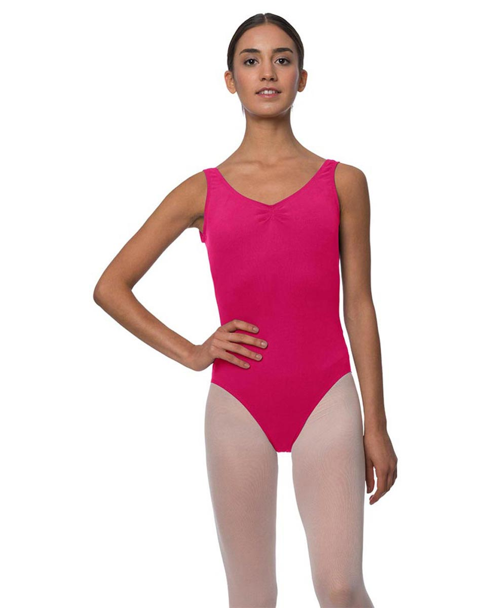 Adults Pinch Front and Low Back Tank Dance Leotard Luna FUC