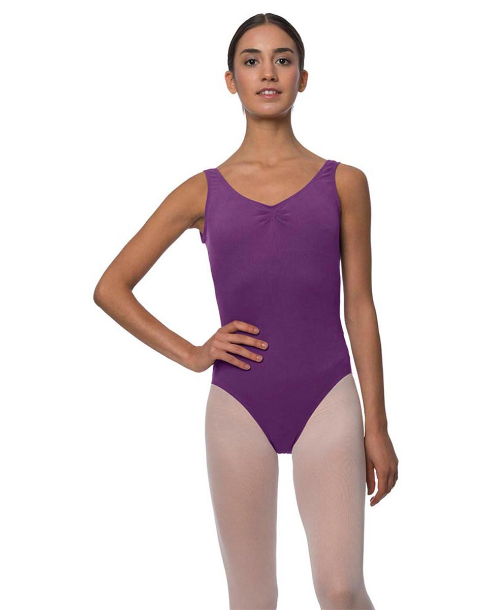 Adults Pinch Front and Low Back Tank Dance Leotard Luna GRAP