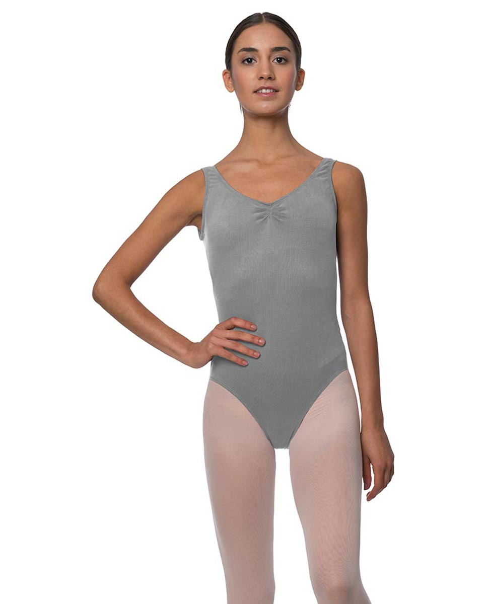 Adults Pinch Front and Low Back Tank Dance Leotard Luna GRE