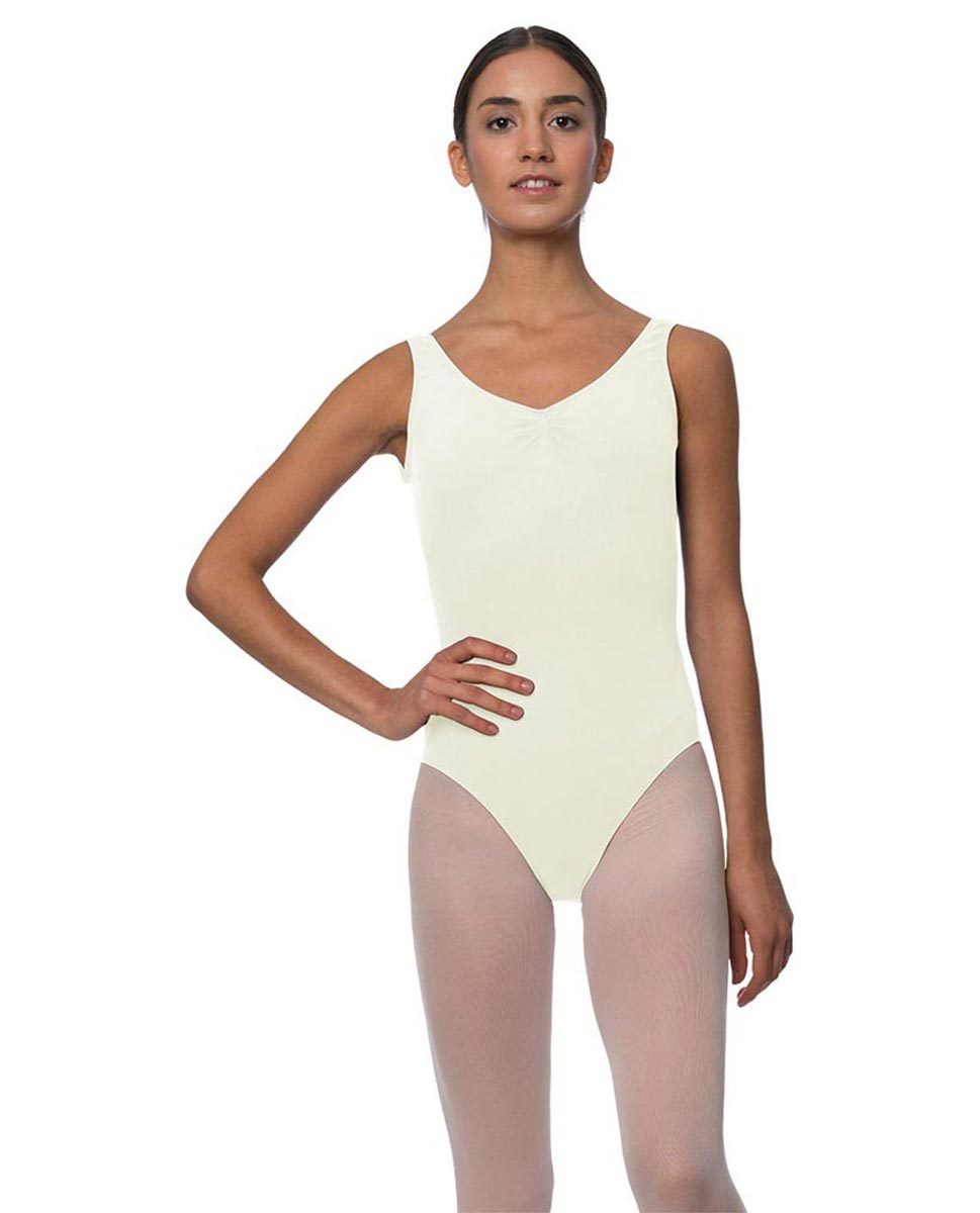 Adults Pinch Front and Low Back Tank Dance Leotard Luna IVOR