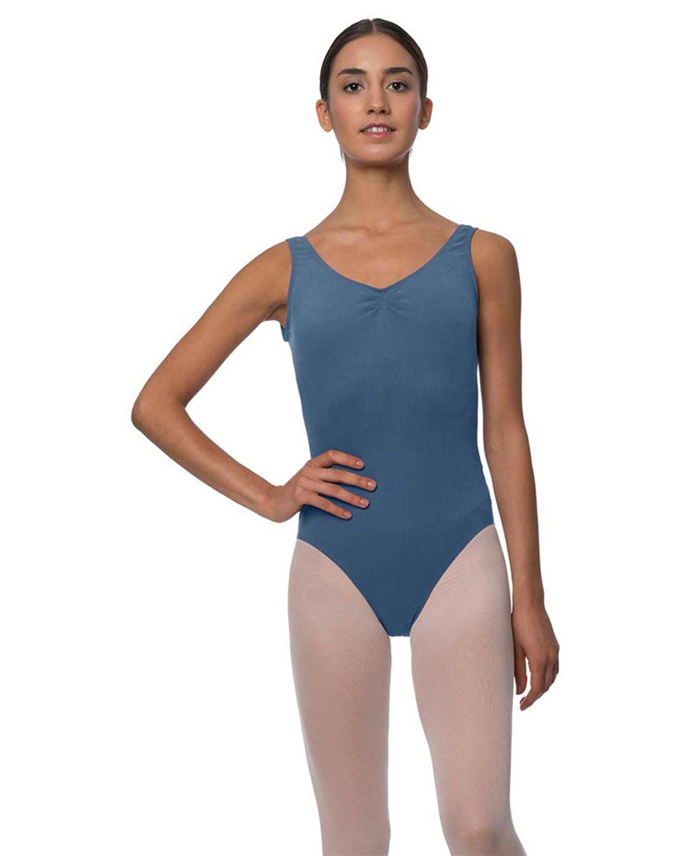 Adults Pinch Front and Low Back Tank Dance Leotard Luna JEA
