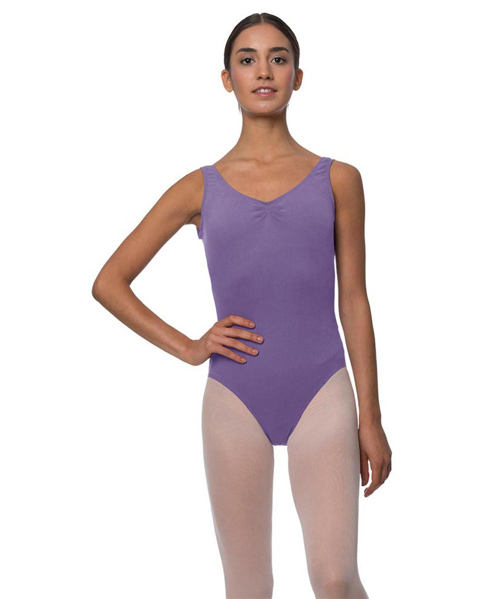 Adults Pinch Front and Low Back Tank Dance Leotard Luna LAV