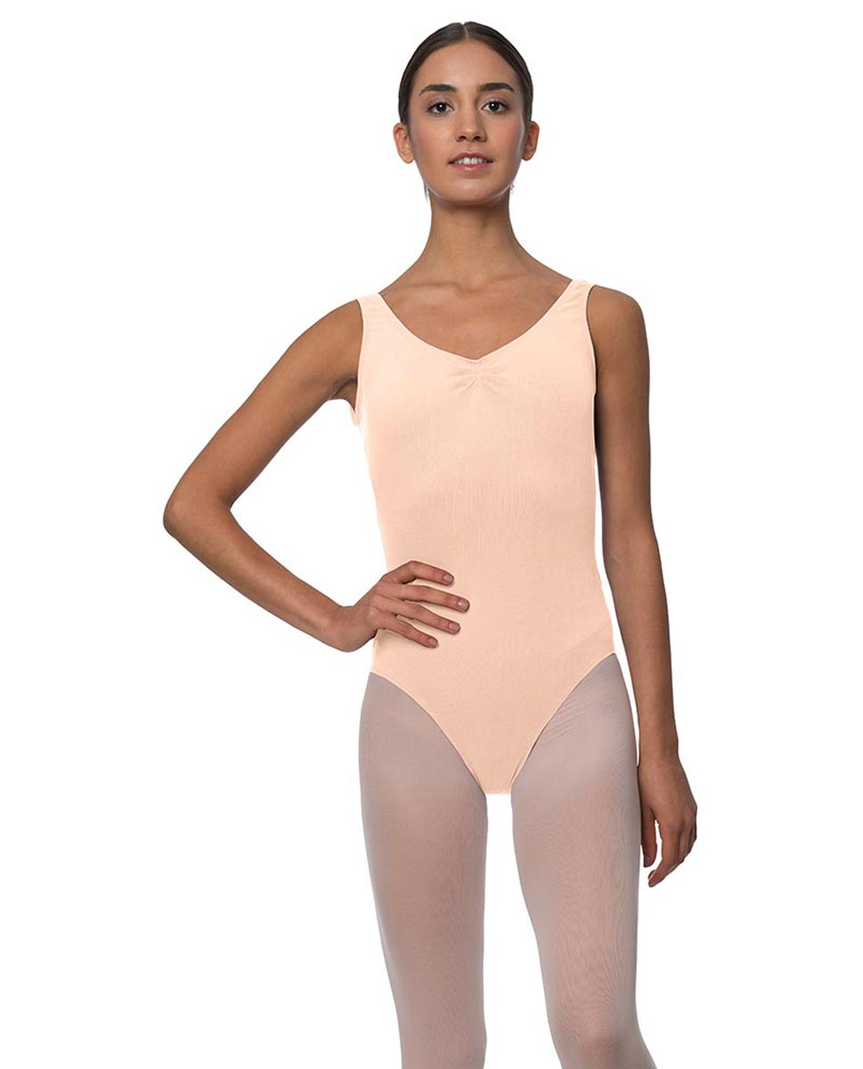 Adults Pinch Front and Low Back Tank Dance Leotard Luna LNUD