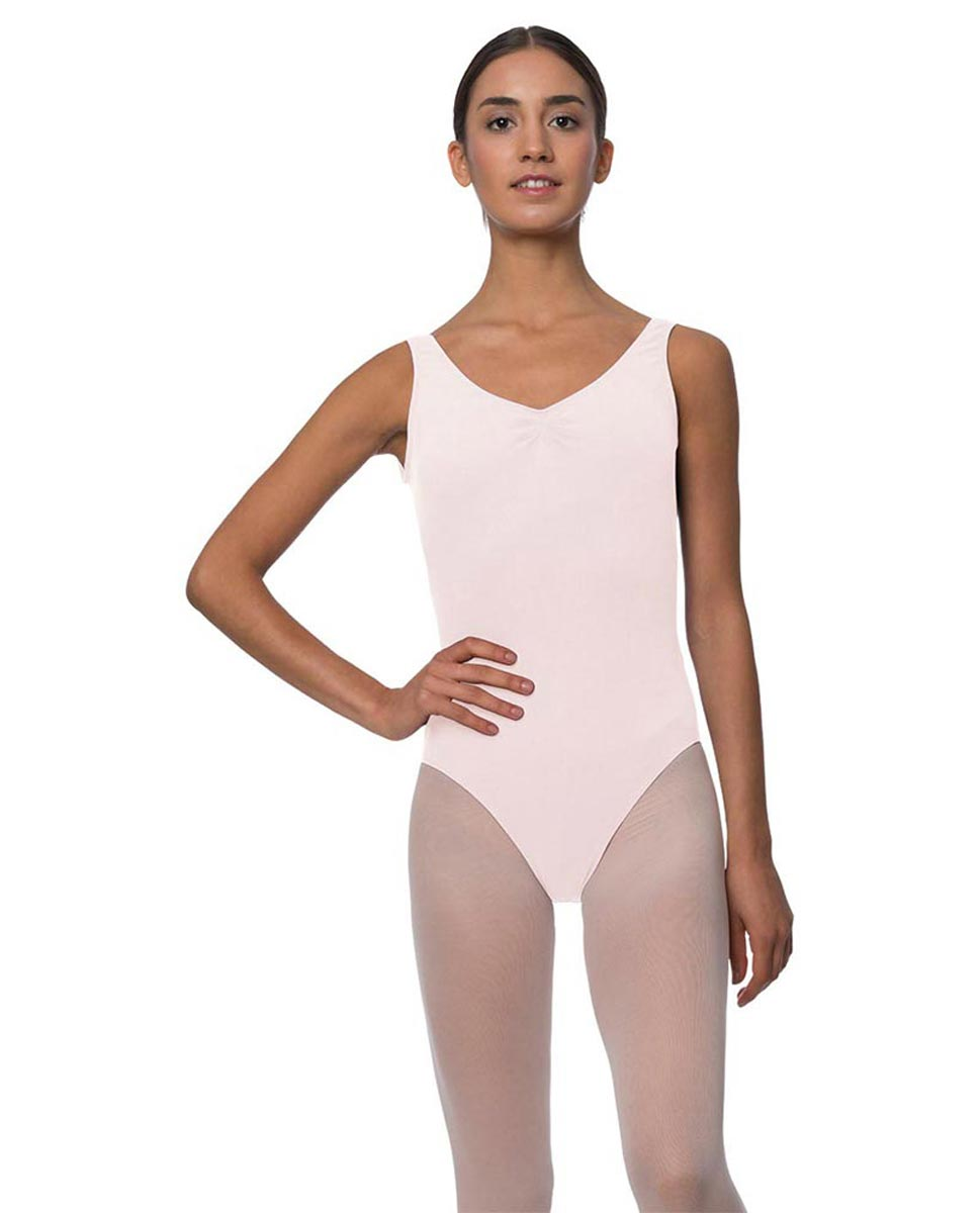 Adults Pinch Front and Low Back Tank Dance Leotard Luna LPNK