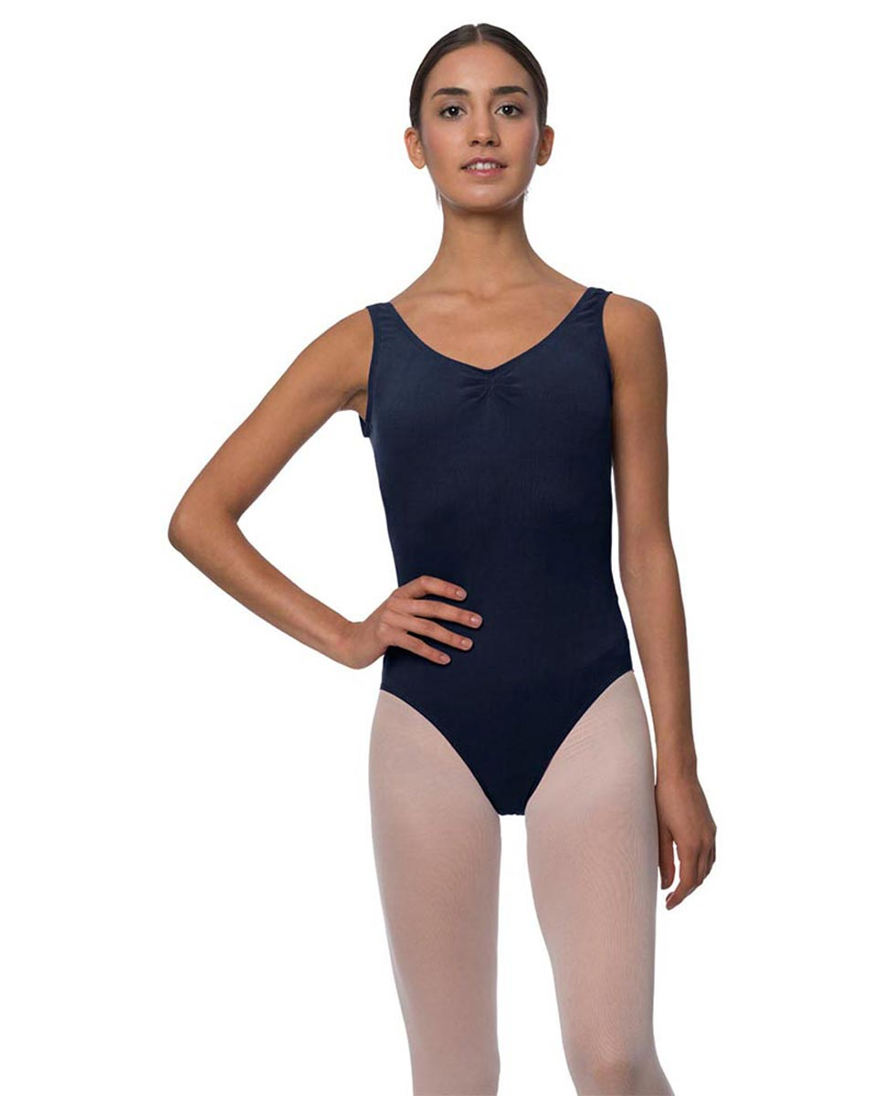 Adults Pinch Front and Low Back Tank Dance Leotard Luna NAY