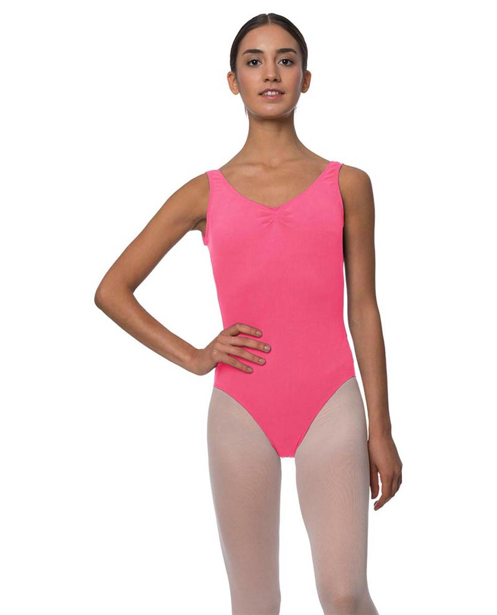 Adults Pinch Front and Low Back Tank Dance Leotard Luna ROS