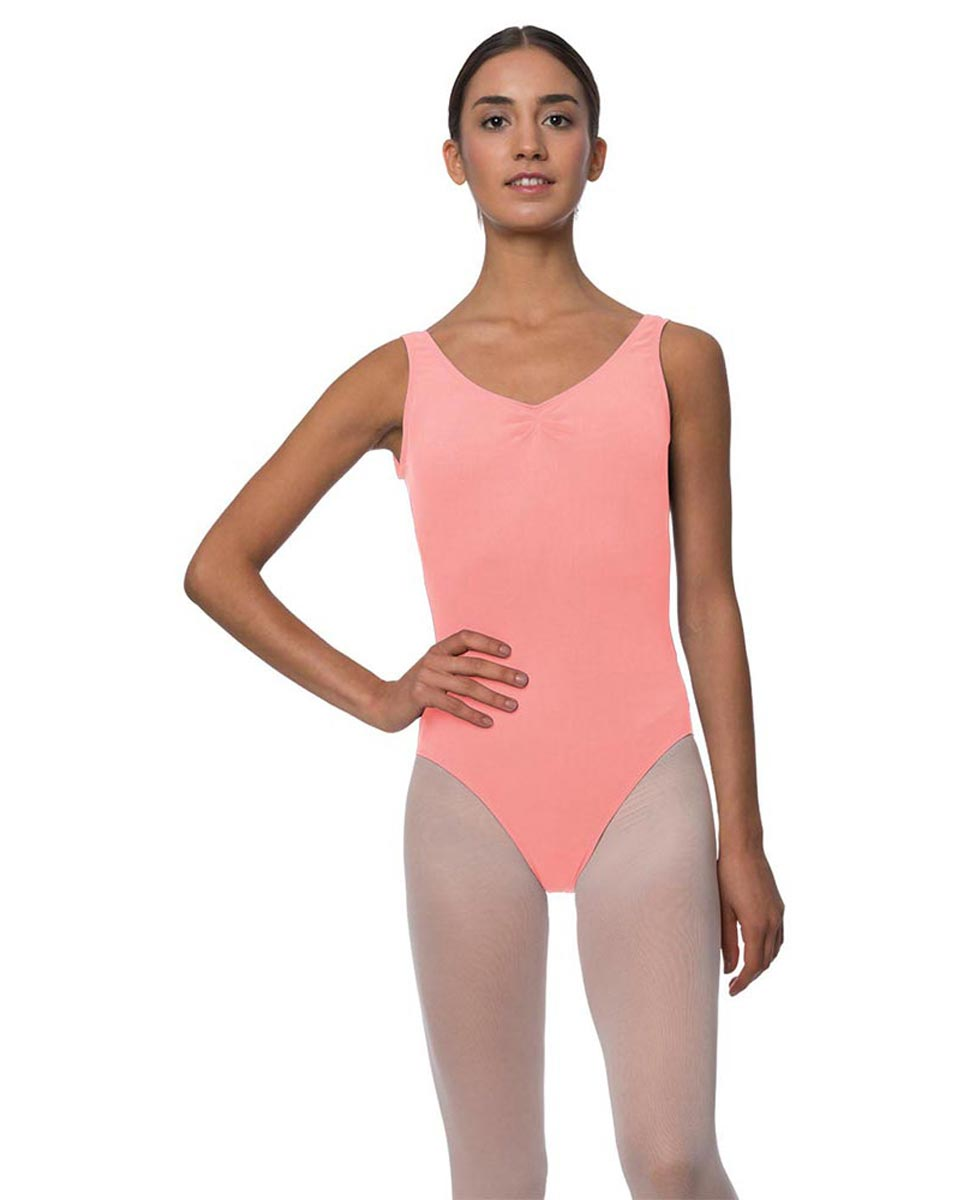 Adults Pinch Front and Low Back Tank Dance Leotard Luna PEAC