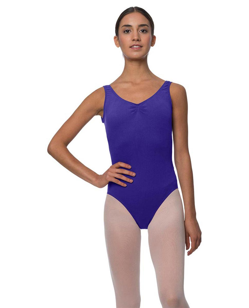 Adults Pinch Front and Low Back Tank Dance Leotard Luna ROY